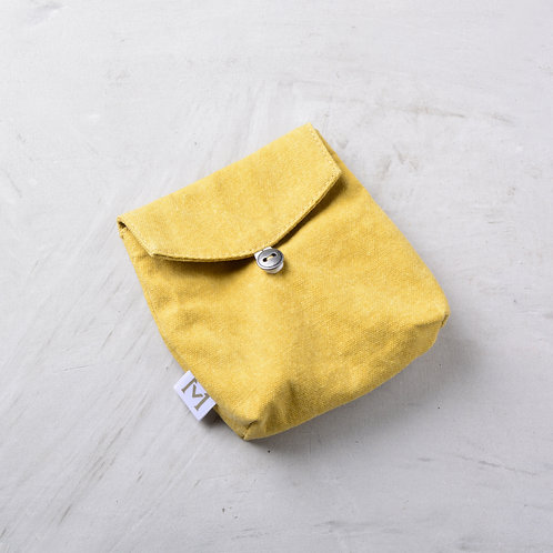 Fabric Mask Pouch - Yellow