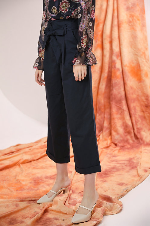 Adele Wide-leg Cuffed Pants
