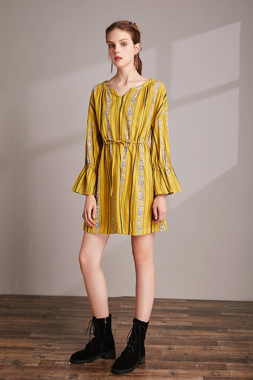 Elinor Floral Stripe Dress