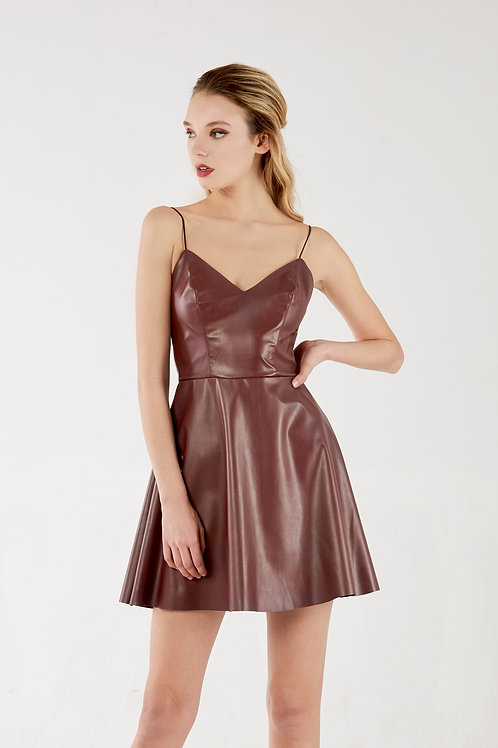 Vegan Brownish Pink Dress