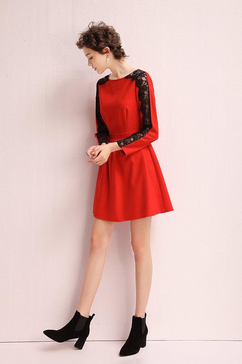 Iole Lace Sleeve Dress