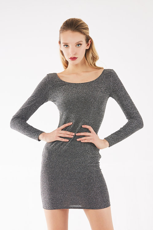 Silver Slimfit Dress