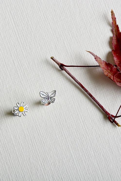 Daisy and Butterfly Earrings