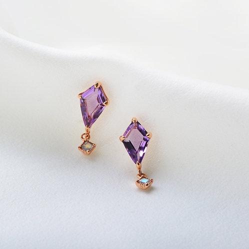 Diamond Quartz Earrings