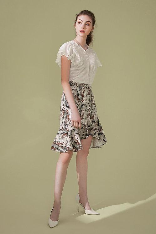 Bernice Peplum Split Skirt