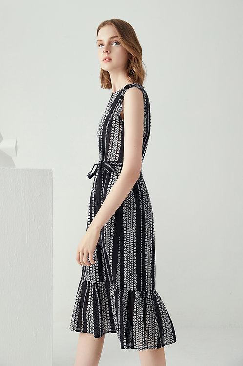 Amellia Hem Midi Dress-Black