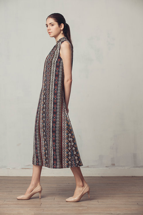Campbell Ethnic Printed Maxi Dress