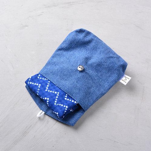 Fabric Mask Pouch - Denim
