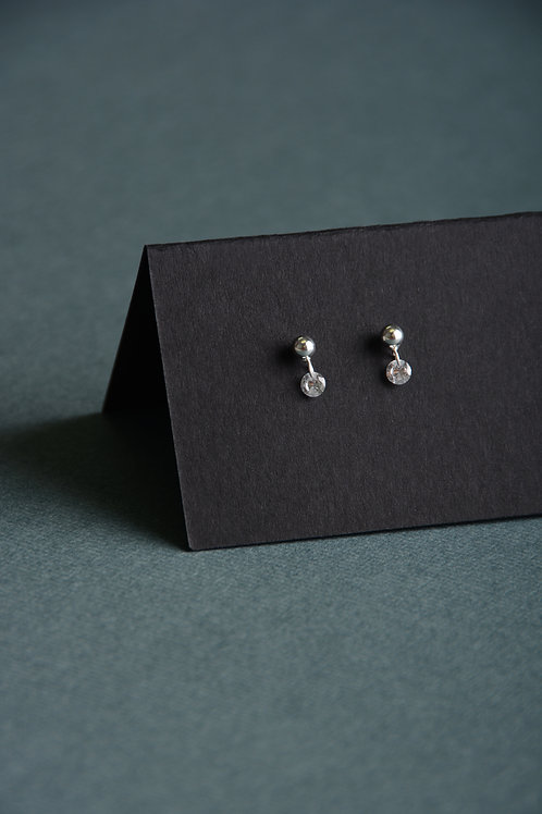 Dot with a CZ Earrings