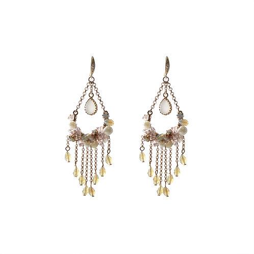 Crystal Whirl on Pear Earrings