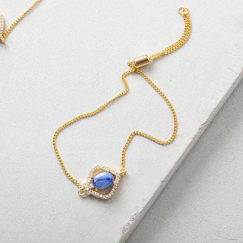 Blue Stone Crystal Bracelet