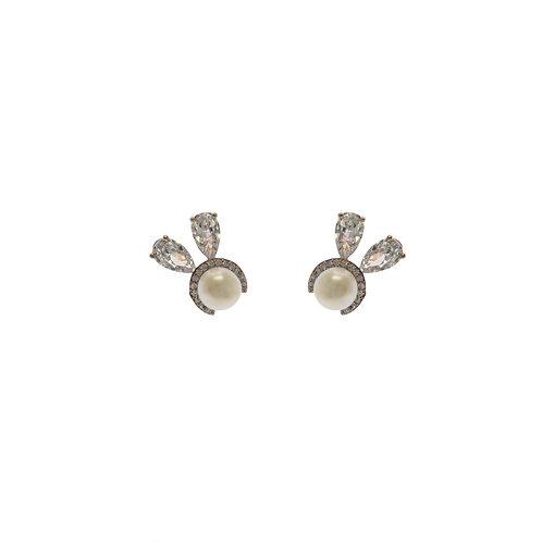 Pearl Rabbit Earrings