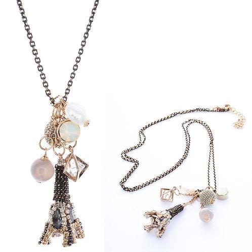 Eiffel Tower Necklace - Black