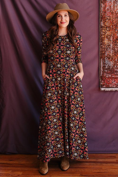 Mumdai Maxi Dress Mauve Tile
