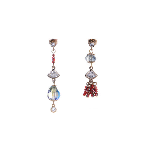 Crystal Stone and Tassel Earring