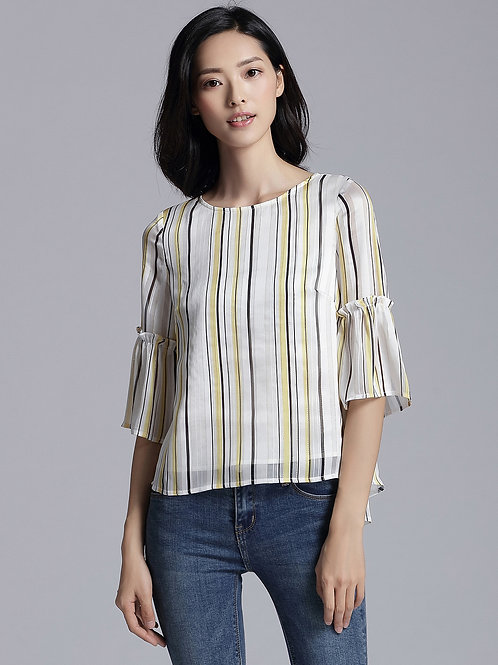 Haley Vertical Stripes Top