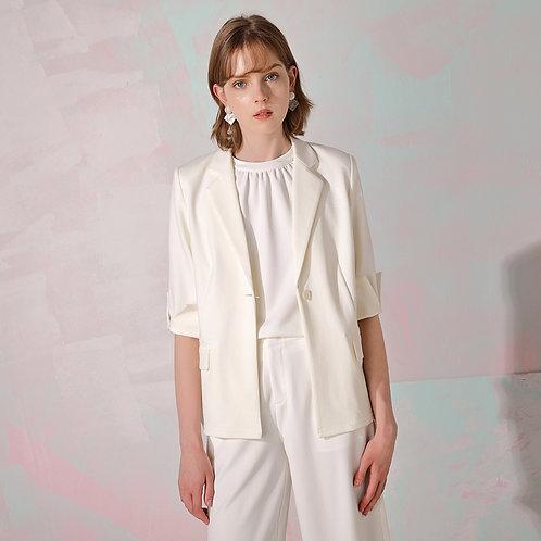 Blanche Split Sleeves - White