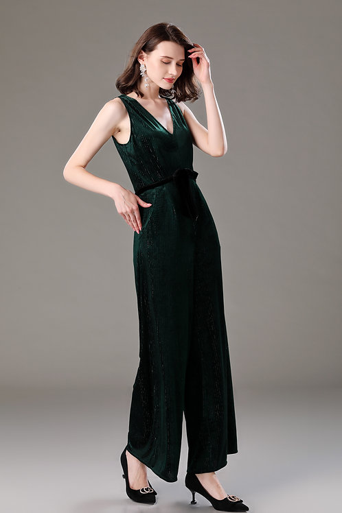 Noreen Shiny Velvet Jumpsuit