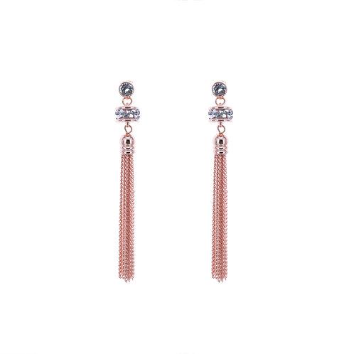 Kyra Single Roll Tassel Earrings
