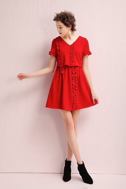 Ursa Ruffle Dress