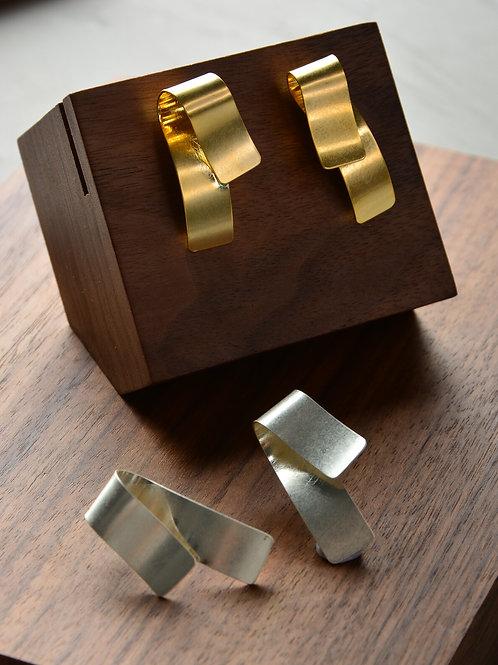 Fold the Gold Sheet Earring