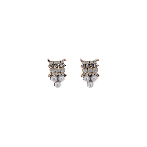Square and Three Dor Earrings