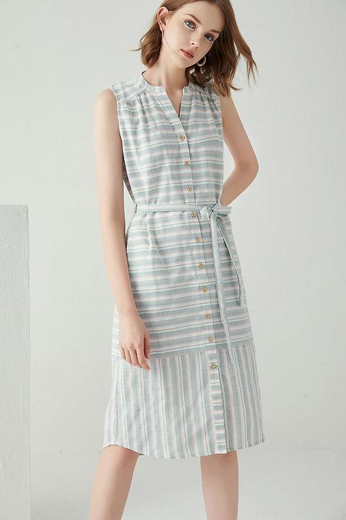 Denna Stripe Linen Dress