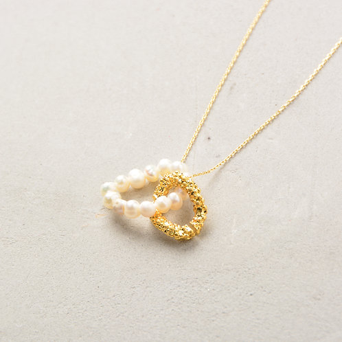 Necklace with Gold and Pearl Loop