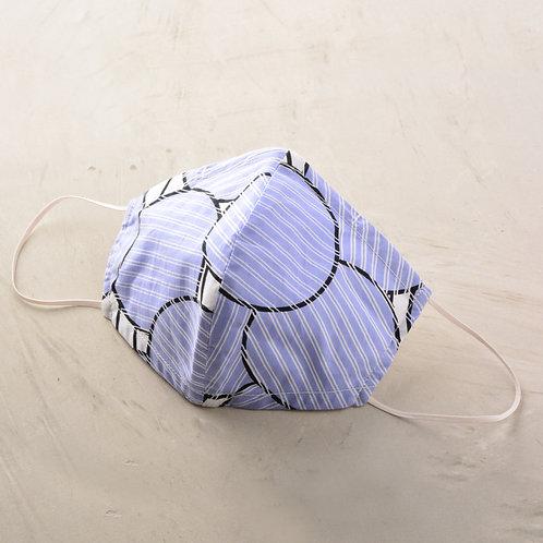 2 Layer Fabric Mask - Blue Circle
