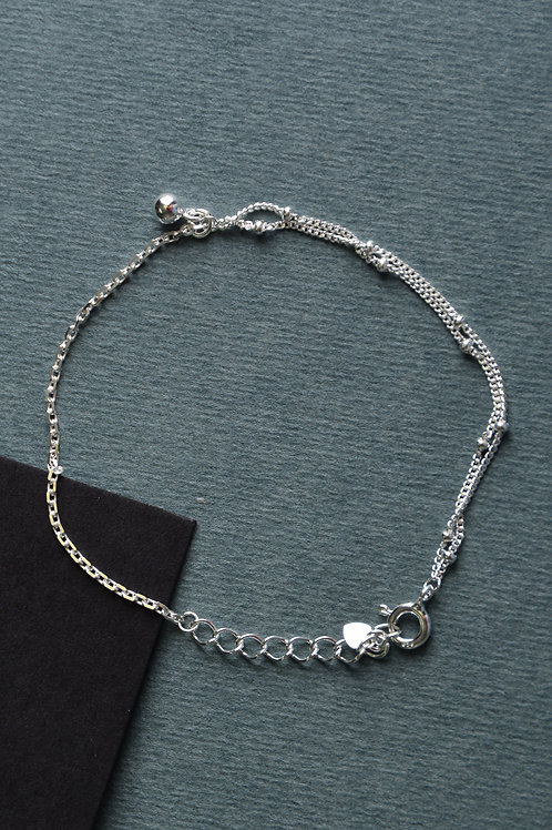 Double Chain Bracelet With Beads