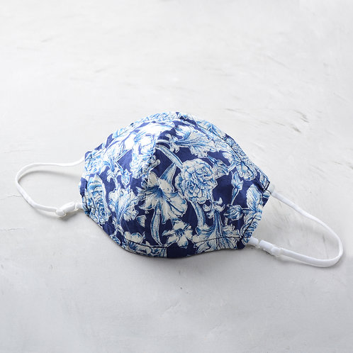 2-Layer Fabric Mask -  White Rose