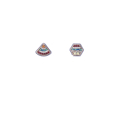 Hex and Triangle Earrings - Mix