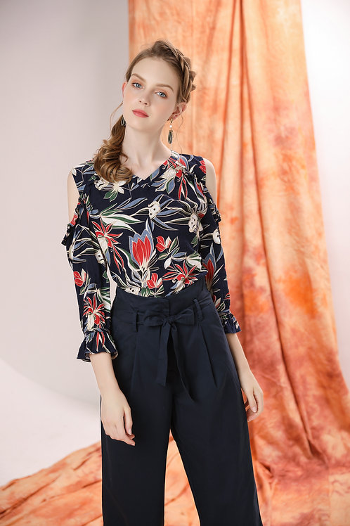 Marcia Floral Off Shoulder Top