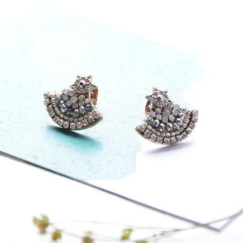 Star Shining Earrings - Blue White