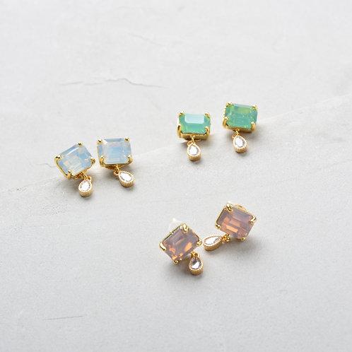Yellow Crystal Earrings