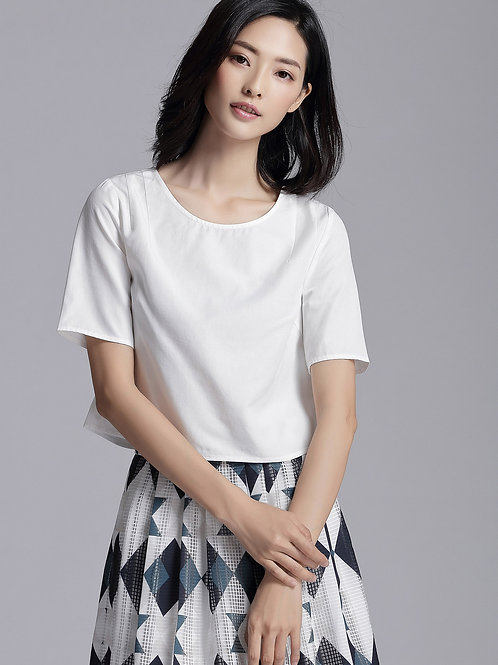 Thora Short-Sleeve Darted Top