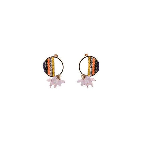 Half Filled Circle Earrings