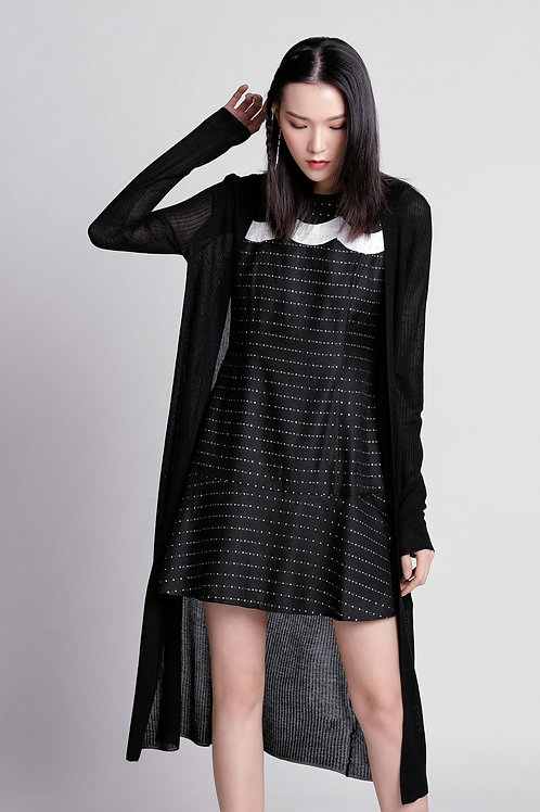 Valerie Black - White Shiny Dress