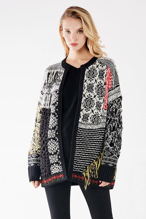 Mix Color Knit Jacket