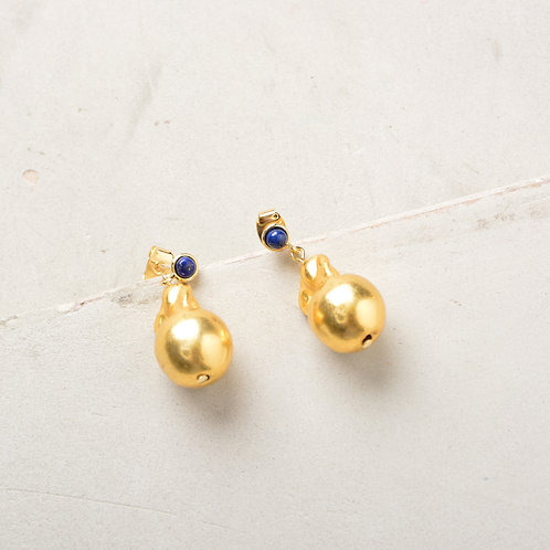 Melted Gold Drop Earrings