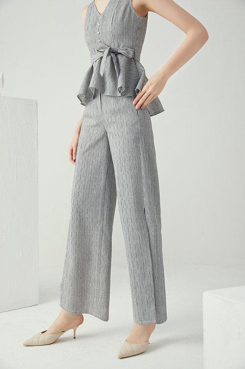 Nadia Stripe Split Pants