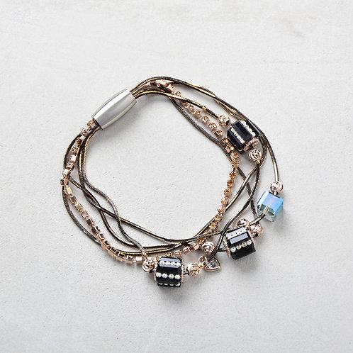 Beads Twisted Bracelet - Black