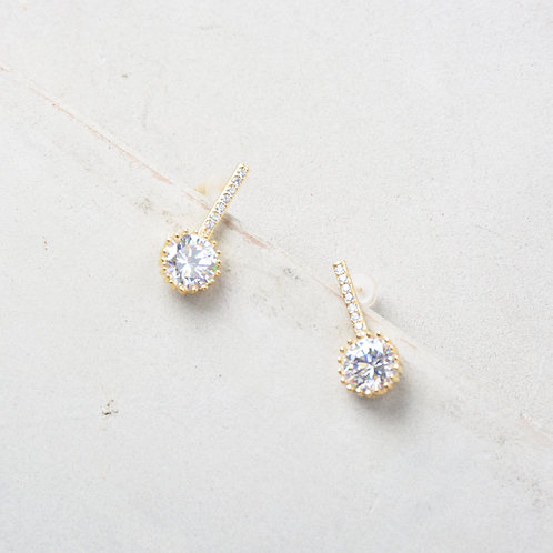 Crystal on One Earrings