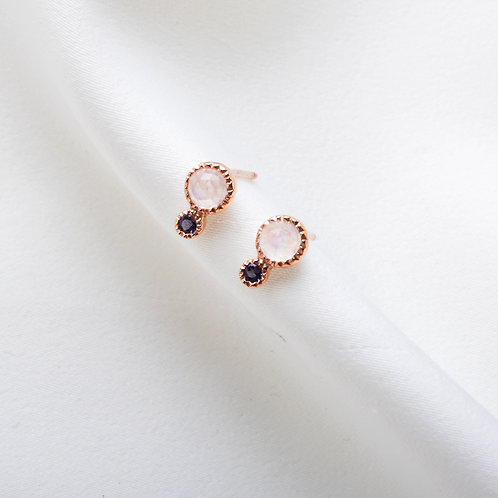 Liana Circle Quartz Earring