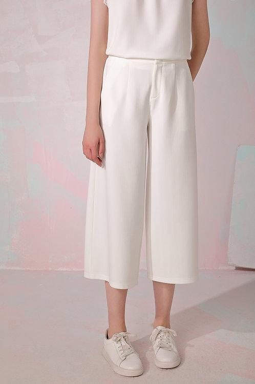 Gretta Wide-Leg Pants - White