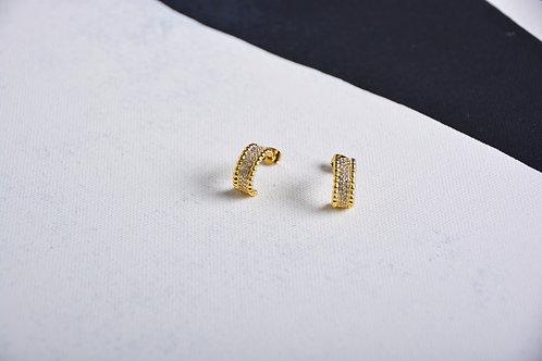Swarovski Half Moon Earrings