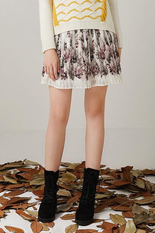 Alana Accordion Pleated Mini Skirt
