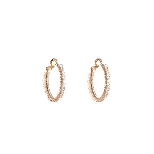 Czech Stone Circle Earring - Small