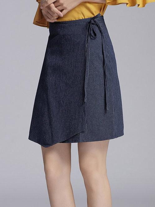 Rosana Tie Knot Denim Skirt