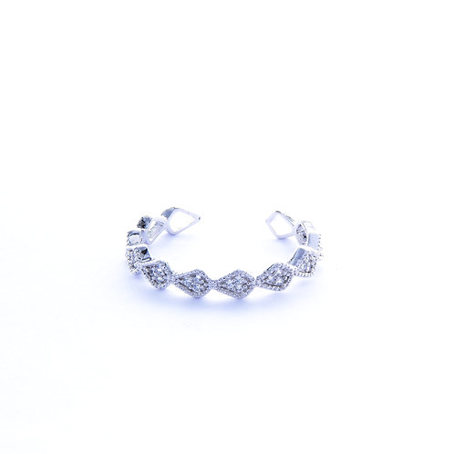 Aligned Pear CZ Ring